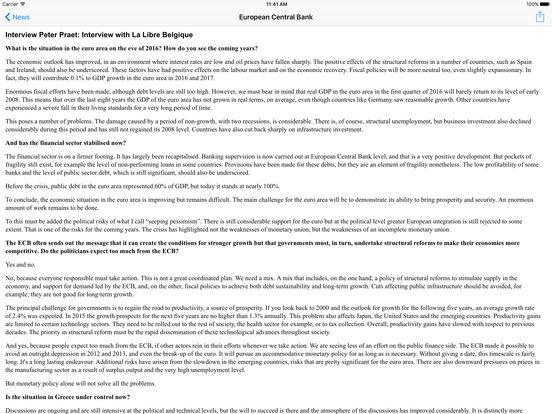 Central Banks iPad Screenshot 2
