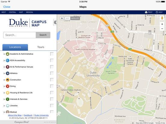 DukeMobile iPad Screenshot 1