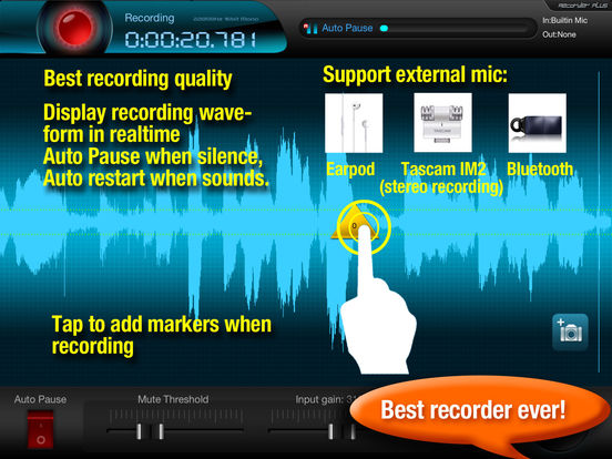 Recorder Plus HD : voice record, audio editor screenshot