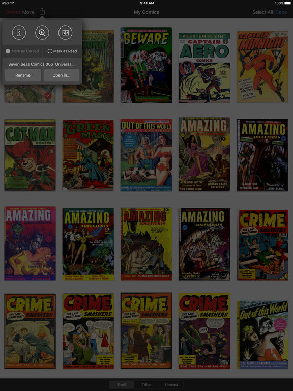 iComics - The Comic Reader for iPad and iPhone screenshot