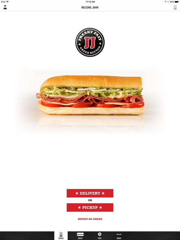 Screenshots of Jimmy John's Sandwiches for iPad