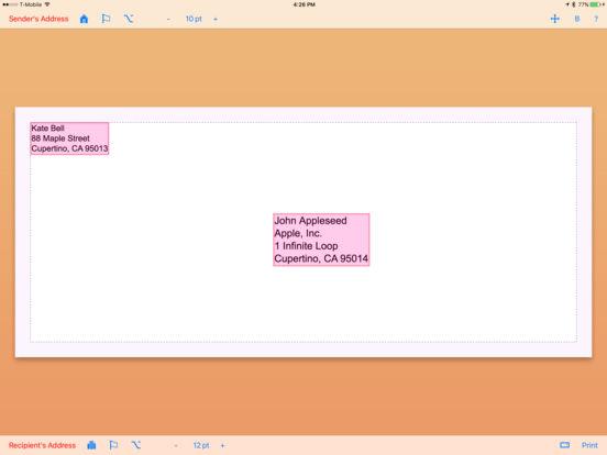 Envelope Maker iPad Screenshot 2