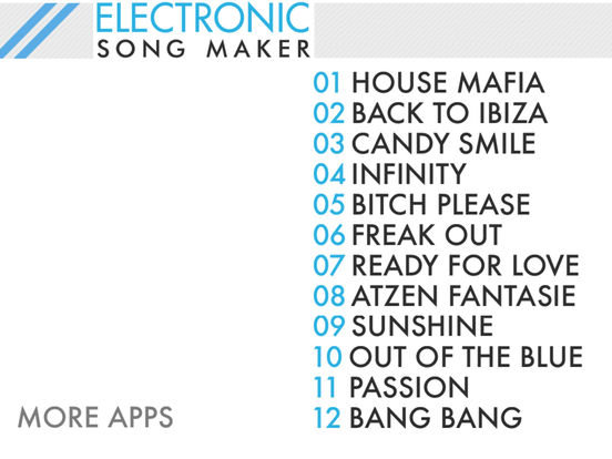 Electronic Song Maker - Magic Loopmachine & Beatmaker - Free EDM Shazam Tracks & Loops screenshot