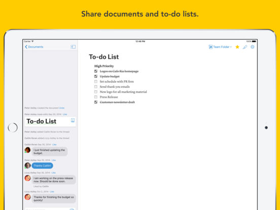 Quip - Docs, Chat, Spreadsheets screenshot