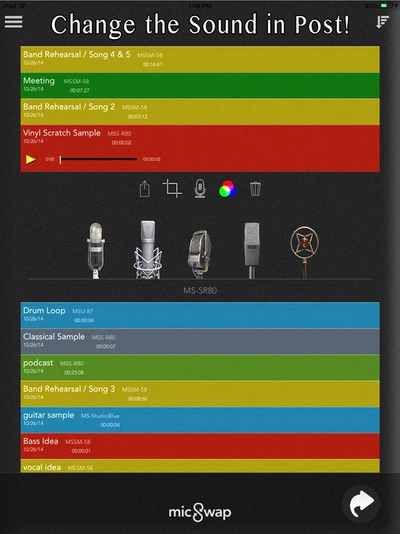 MicSwap: Mic Emulator & Recorder screenshot