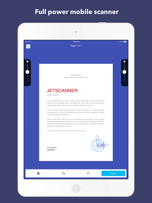 JetScanner: Camera to PDF, scan image documents Screenshots