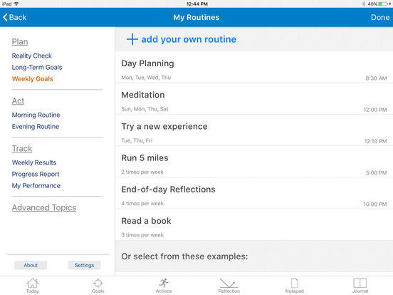Goal Setting with Brian Tracy - Life Goals Task Planner & GTD Habits Productivity Coaching screenshot