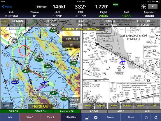 WingX Pro7 - Aviation Moving Map, Charts, and Weather iPad Screenshot 1