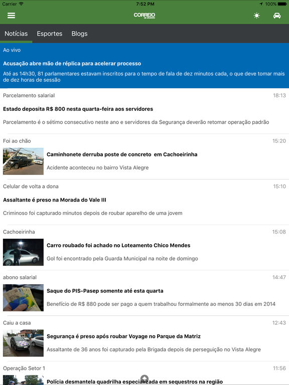 Captura de tela do iPad 2