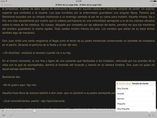 El Elixir De La Larga Vida iPad Screenshot 1