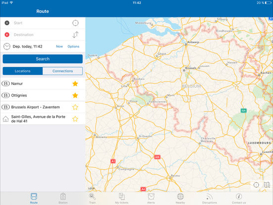 Train Info Services by SNCB Mobility iPad Screenshot 1