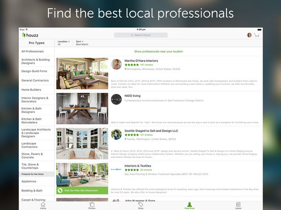 Houzz Interior Design Ideas iPad Screenshot 5