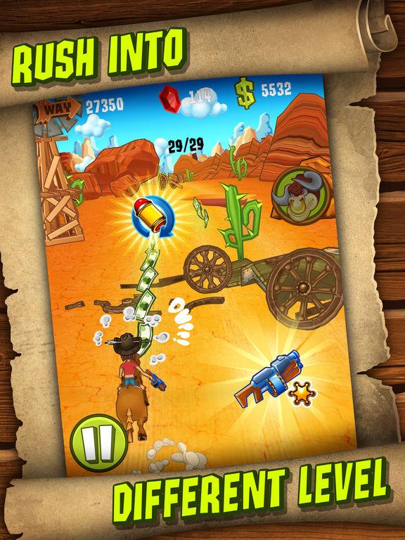 Shoot and Run: Western Runner Game для iPad