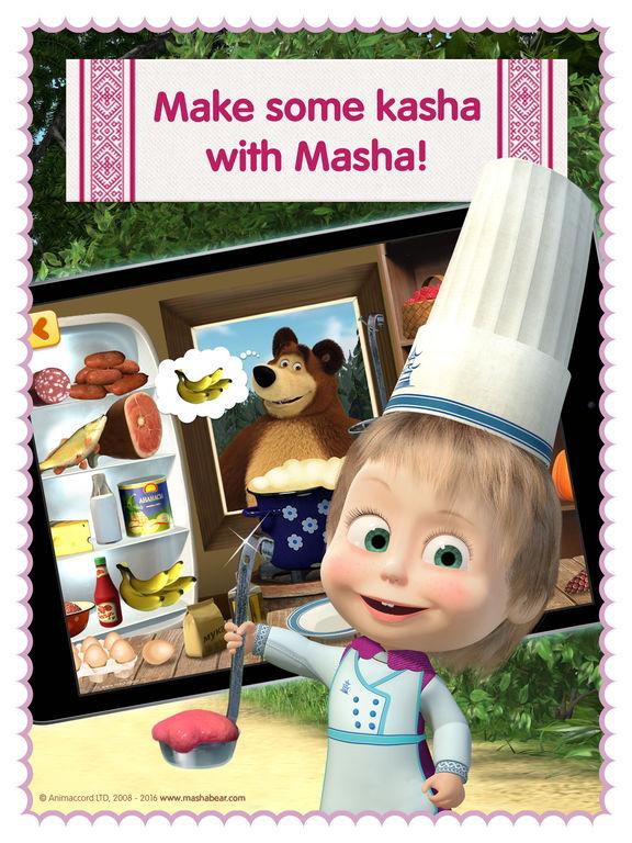 Masha and the Bear diner dash and kitchen gamesscreeshot 1