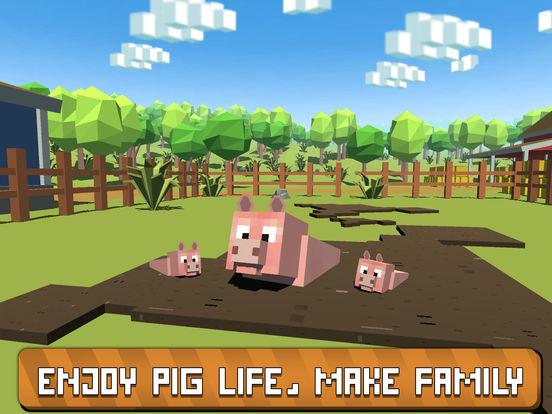 Blocky Pig Simulator 3D Full Screenshots