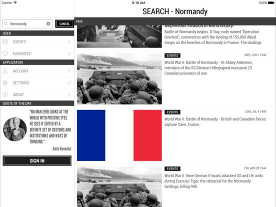 Today In History iPad Screenshot 5