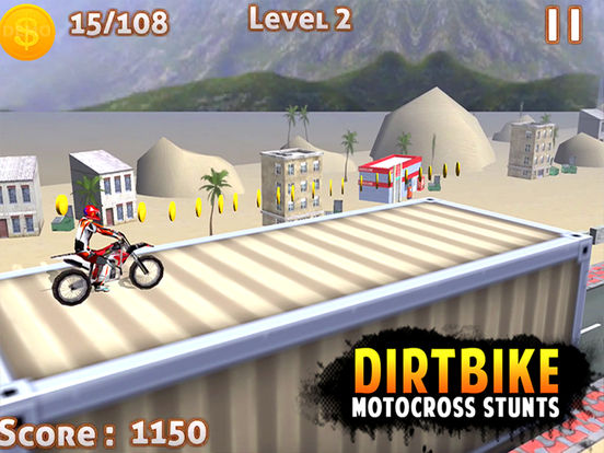 DIRT BIKE MOTOCROSS STUNTS -FREE DIRT BIKE 3D GAMEscreeshot 1