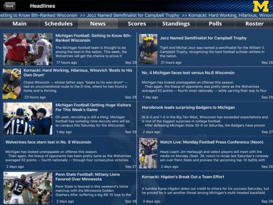 Michigan Wolverines College SuperFans iPad Screenshot 1