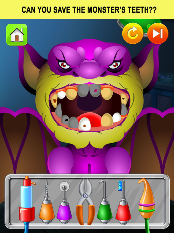 Monster Dentist Doctor Shave - Kid Games Freescreeshot 2