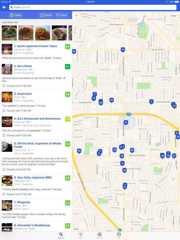 Screenshots of Foursquare City Guide for iPad
