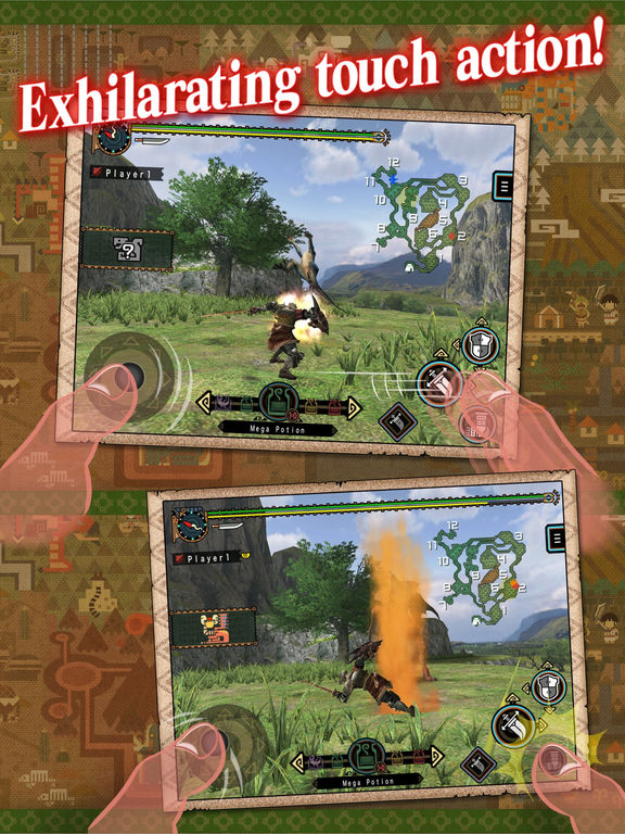 MONSTER HUNTER FREEDOM UNITE for iOS Screenshots