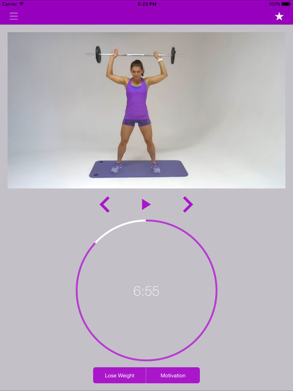 Barbell Fitness for Women Exercises and Workouts Screenshots