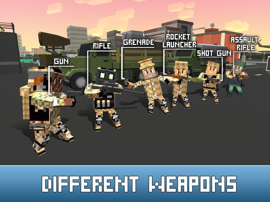 Blocky Army: War Battles Full Screenshots