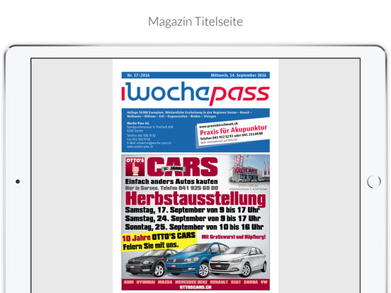 Woche-Pass iPad Screenshot 3