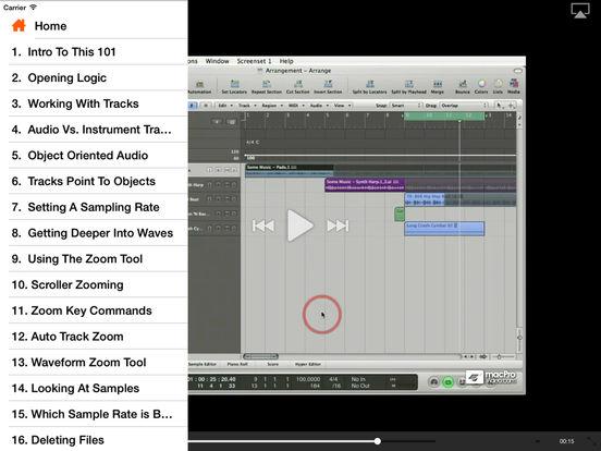 MPV's Logic Pro 101 Tutorial iPad Screenshot 2