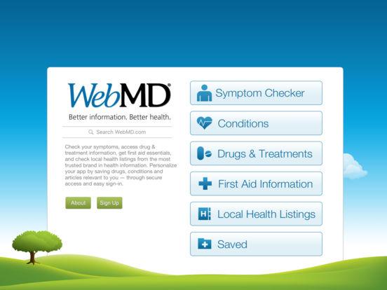 WebMD for iPad iPad Screenshot 1