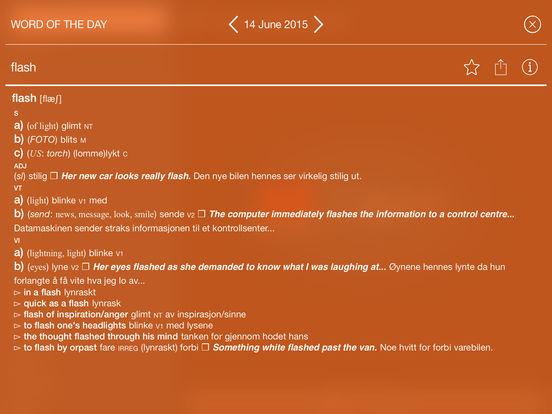 Collins Norwegian Dictionary iPad Screenshot 3