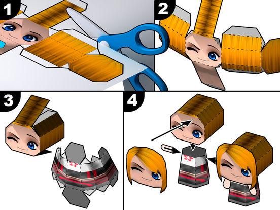 3D Papercraft - Create PaperChibi Avatar Screenshots