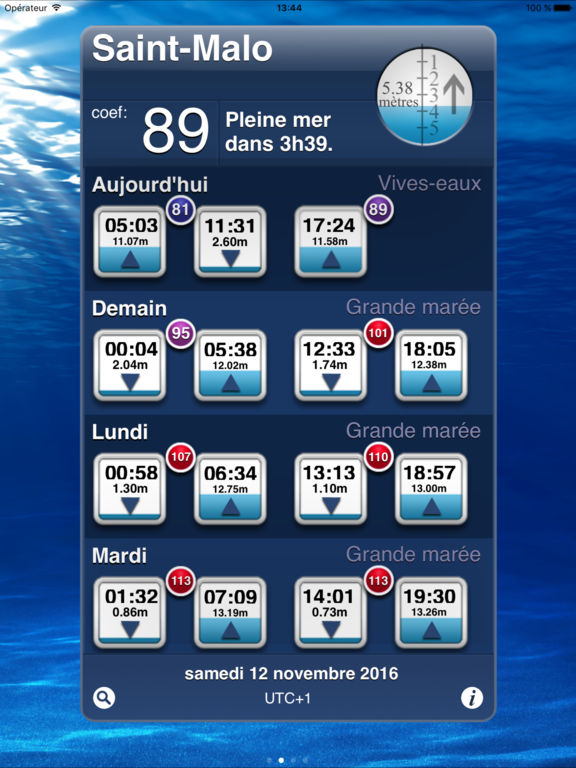 iMarées HD - Annuaire des marées en France Screenshots
