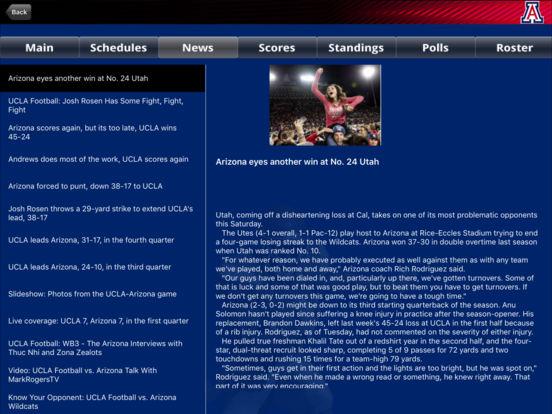 Arizona Wildcats College SuperFans iPad Screenshot 3