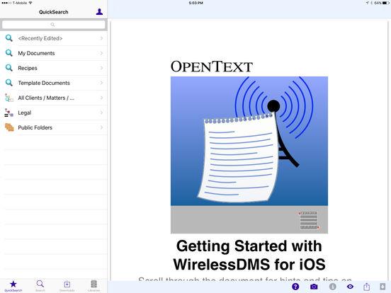 WirelessDMS iPad Screenshot 1