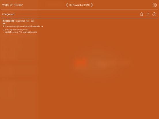 PONS Compact Dictionary Spanish <-> English iPad Screenshot 4