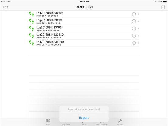 Trackr-GPS Screenshots