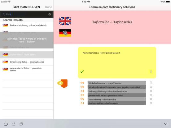 idict math Deutsch English - German English iPad Screenshot 1