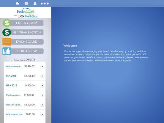 HealthSCOPE Benefits Mobile iPad Screenshot 1