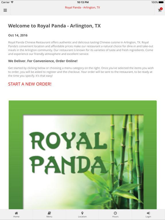 App Shopper: Royal Panda - Arlington, TX (Food & Drink)