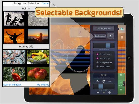 OMGuitar-12 Digital Twelve String Guitar with FX iPad Screenshot 3