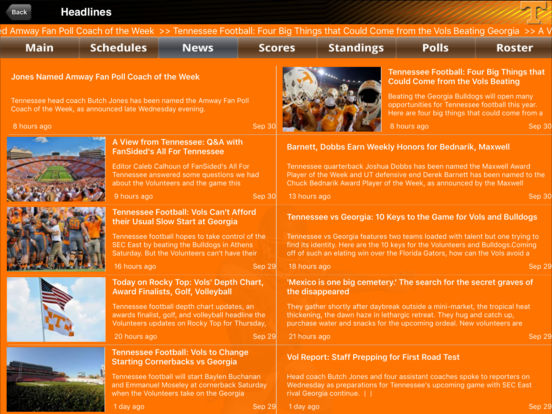 Tennessee Volunteers College SuperFans screenshot 4