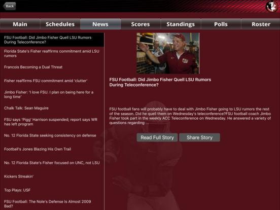 Florida State Seminoles College SuperFans iPad Screenshot 2