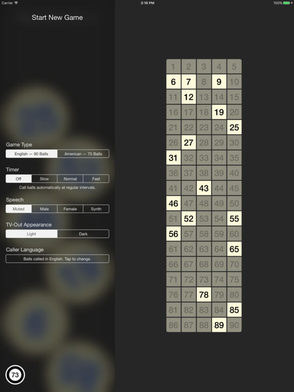 Bingo Machine - Call Bingo Numbers Screenshots