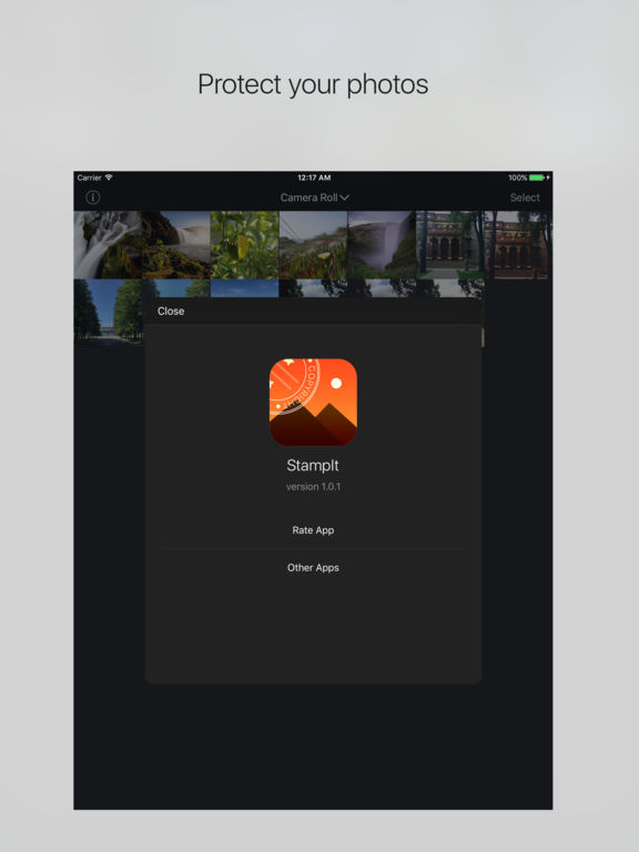 StampIt - add watermark and copyright to photos Screenshots