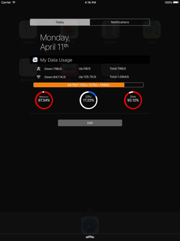 My Data Usage Widget Pro - Monitor Mobile Cellular Screenshots