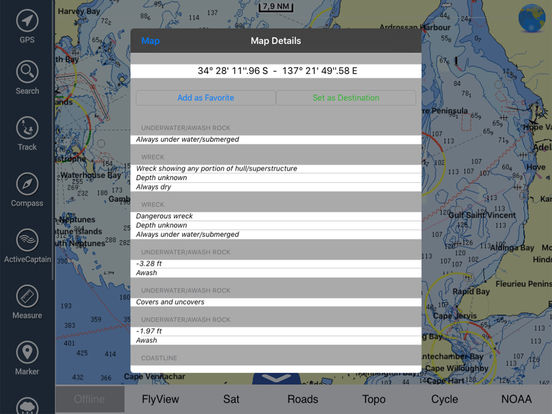 Marine: Perth HD - GPS Map Navigator iPad Screenshot 2