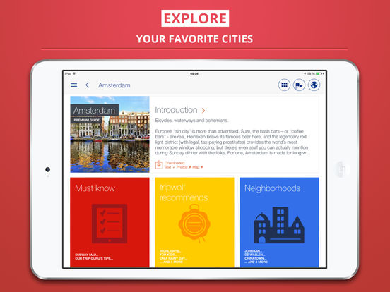 Amsterdam tripwolf travel guide iPad Screenshot 1