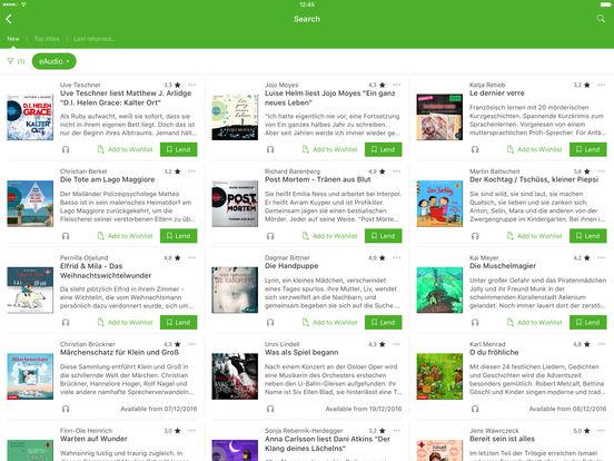 Onleihe iPad Screenshot 2