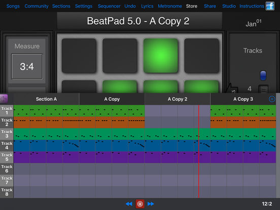 BeatPad iPad Screenshot 2